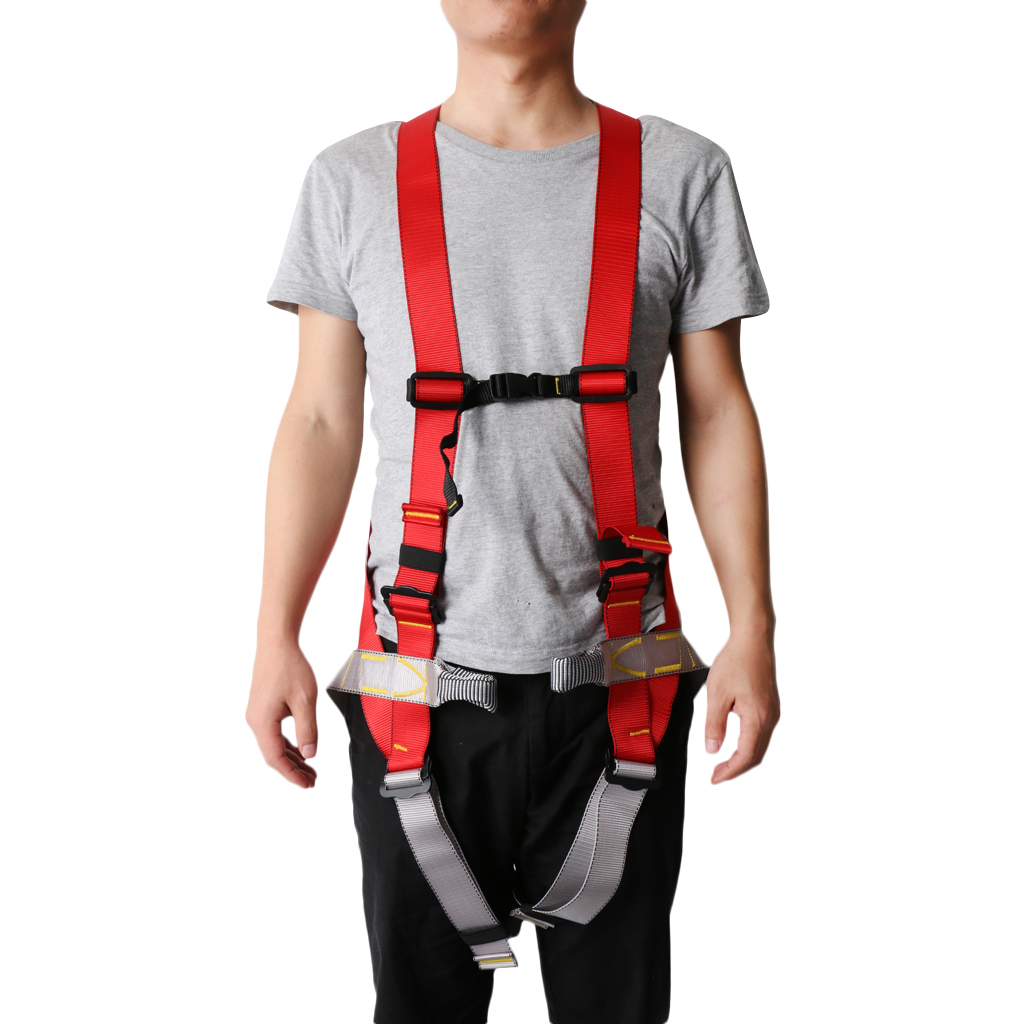800KG Professional Safety Belt Caving Rock Climbing Harness for Mountaineering Expeditions Rescue Waist Camping Outdoor Tool hot sale safety body harness outdoor mountaineering rock climbing harness protect waist seat belt outside multi tools