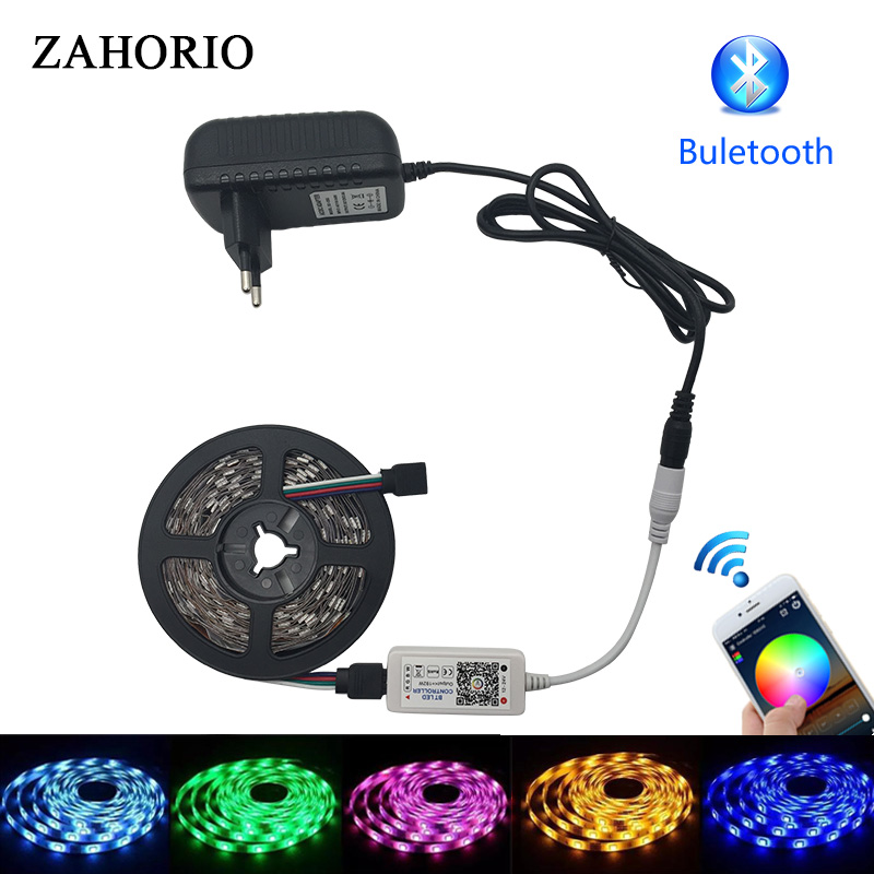smd 5050 rgb led strip light Waterproof 12V 5m 10m Led Ribbon With RGB tape controller Bluetooth 44key remote kitchen decoration 60w 3600lm 300 smd 5050 led rgb car decoration soft light strip w controller 12v 5m