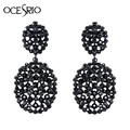 Crystal Long Black Earrings with Stones big earrings for women rhinestones brincos vintage party ethnic hot deals ers-h31
