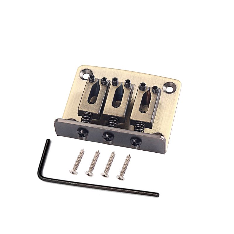 Cigar Box Guitar Parts 4-string Chrome Hard-tail Adjustable Bridge