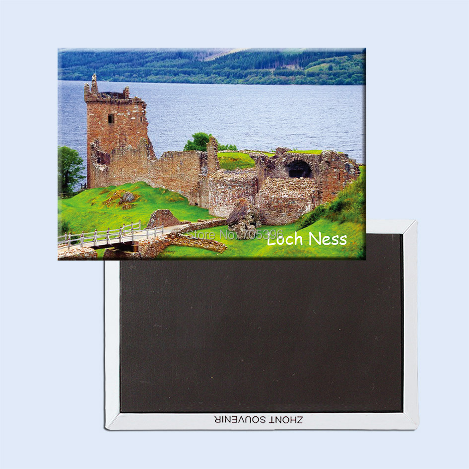 Schottland Souvenir Neuheit Kühlschrank-magnet Urquhart Schloss Loch Ness