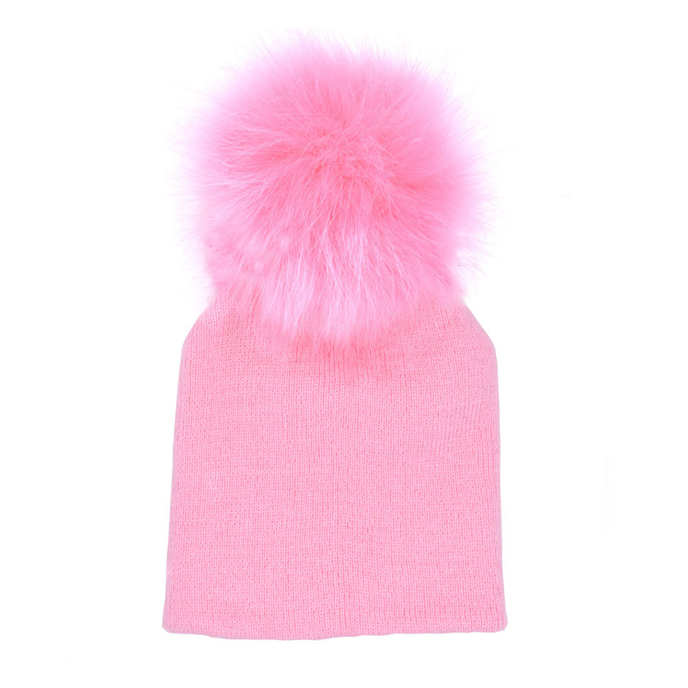 Cute Newborn Winter Warm Baby Hat Ball Pompom Beanies Kids Girl Boy Knitted Hats Cap Winter Hat For Baby