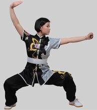 Customize Chinese wushu uniform Martial arts Tournament clothes Kungfu clothing taolu suit dragon for men women boys children