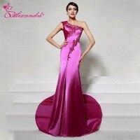 Alexzendra One Shoulder Mermaid Formal Evening Dress Long robe de soiree Elegant Appliqued Evening Gown for Women Plus Size