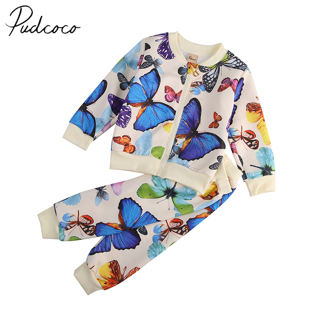 3757493f6717 PUDCOCO Brand Cotton Blend Baby Girls Autumn Spring Clothes ...
