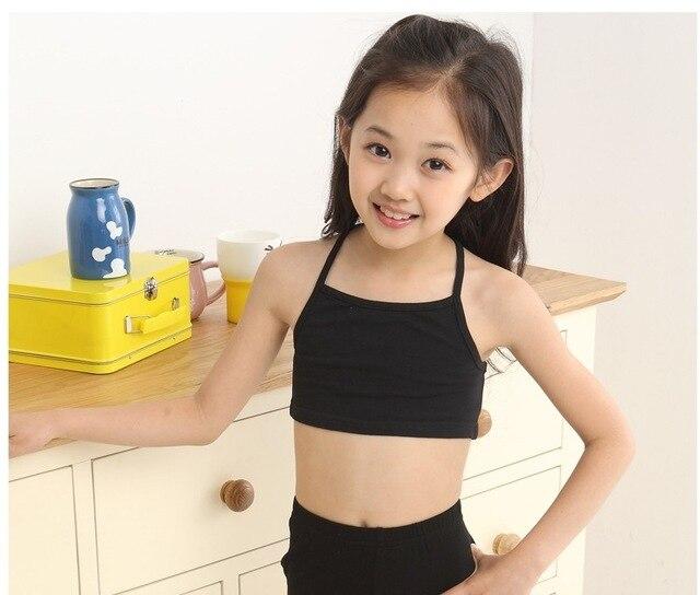 2e5b8c161d V-TREE Girls Bra camisole girl cotton vest child world of tank girls  underwear candy color girls tank tops kids clothing models