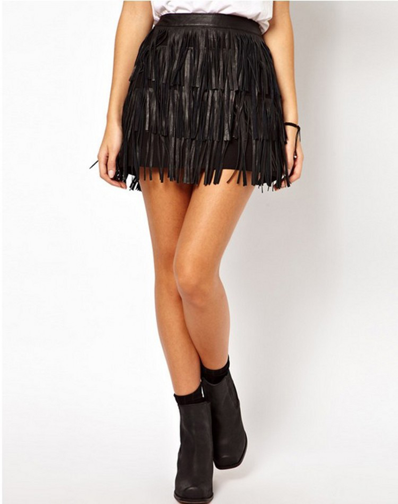 Popular Leather Tassel Skirt-Buy Cheap Leather Tassel Skirt lots ...