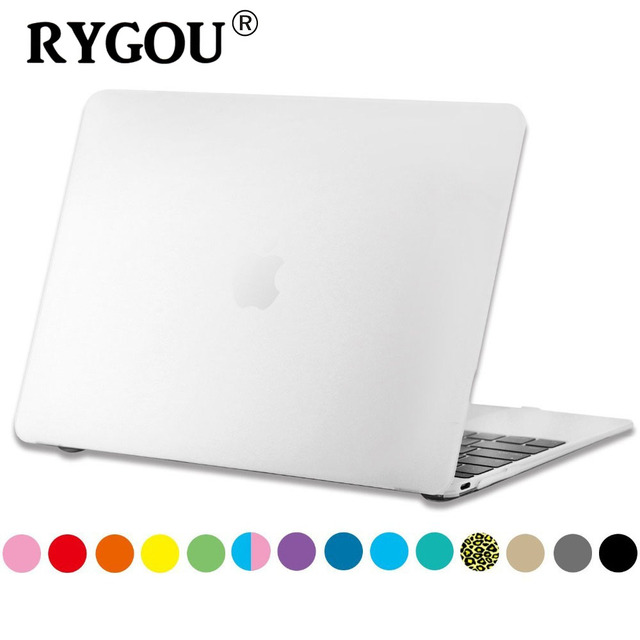"""RYGOU Rubberized Slim Hard Matte Case Cover for 2015 New MacBook 12 inch with Retina Display laptop Bag for Mac Book 12"""" Retina"""