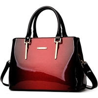 New Luxury Designer High Quality Genuine Patent Leather Bright Surface Top Handle Messenger Bags Handbags Women