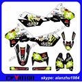 HIGH PERFORMANCE CUSTOMIZED DRZ400SM 1999-2013 ROCKSTAR 3M TEAM GRAPHICS NUMBER 88 GOLD BACKGROUND DECALS STICKERS SETS