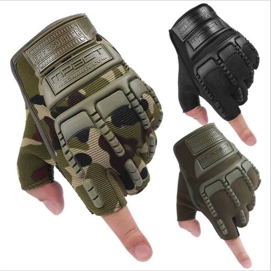4 Colors Tactical Gloves High Quality Military Gloves Men Fighting Combat Half Finger Anti-slip Outdoor Airsoft Sport Gloves oumily the second generation outdoor tactical half finger gloves gray black size xl pair