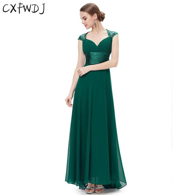 ae084703948 Logistics 7-20 Elegant Evening Wear Maxi Dresses Women Plus Size Party  Chiffon Deep V