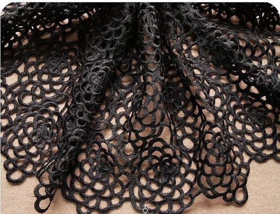 5 yards black Crocheted font b Bridal b font Lace Fabrics font b Wedding b font