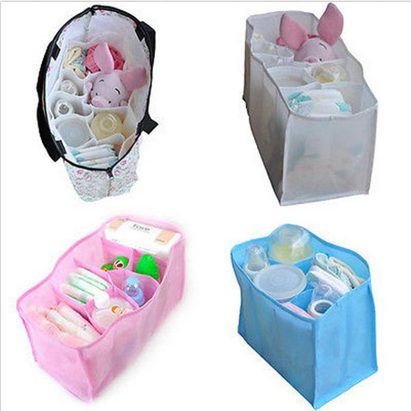 Baby Organizer Bag Portable  Diaper Nappy Bottle Changing Divider Storage  FO