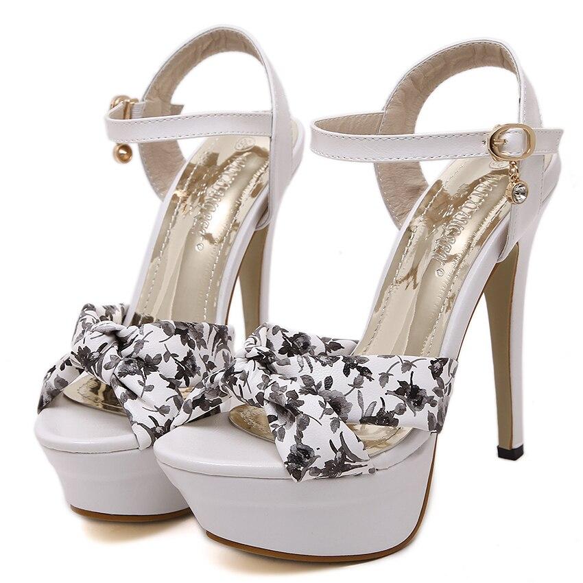 Women Pumps Sexy High Heel Sandals Thin Heels 2016 Summer style High heels Women's Wedding Shoes Stiletto