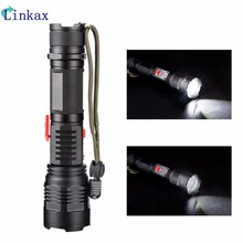 3 Modes 1*XML-T6 Flashlight Ultra Bright Torch Display Power Rechargeable Led Flashlight By 1 * 18650/1*26650 battery 6 modes led xml t6 cob flashlight 8000lm rechargeable lantern torch tail magnetic water resistant by aaa 18650 flashlight