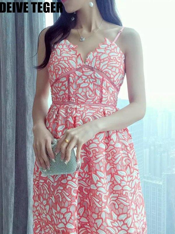 DEIVE TEGER winter sleeveless hollow out halter elegant bodycon  women knee-length dress vestidos BY249