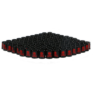 Image 4 - Free shipping GOLF ferrules for irons and wedges spec : inner * higher* outer size 9.3 *15*13.8 mm black with red  Skull