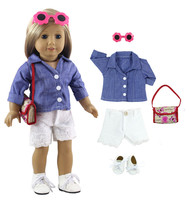 5 PCS New Style High Quanlity Casual Wear Outfit For 18 Inch American Girl
