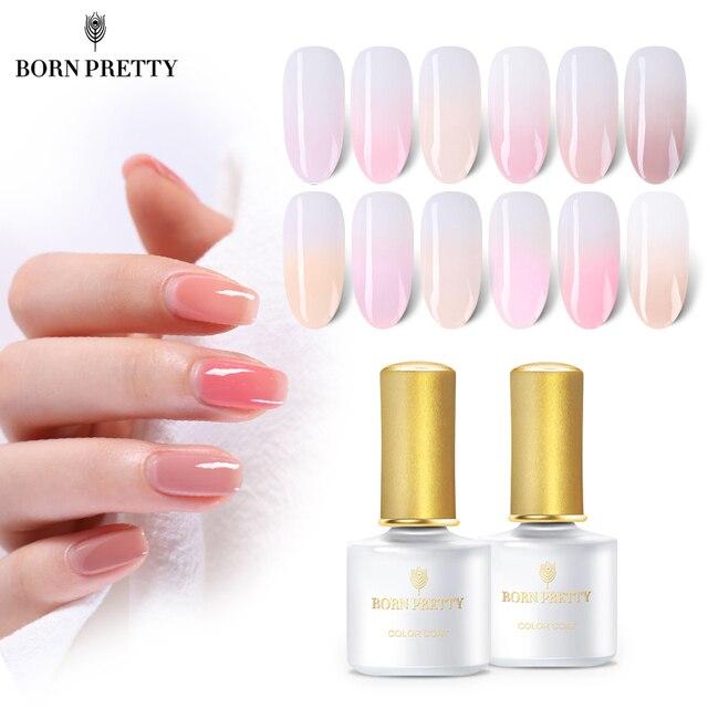 Geboren Pretty Pink Jelly Nail Gel 6 Ml Semi Transparante Naakt
