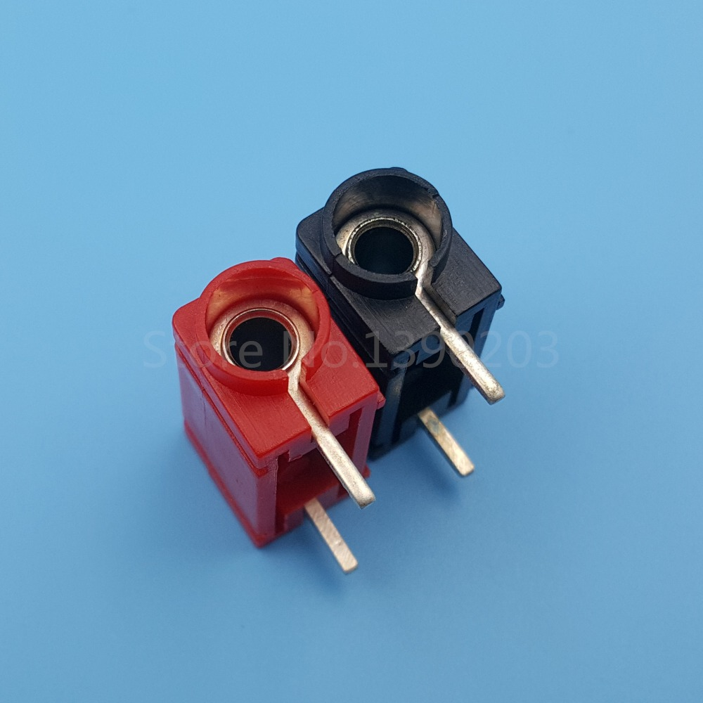 10PCS 24A1000V Binding Post 4mm banana socket Right angle PA plastic for Probes