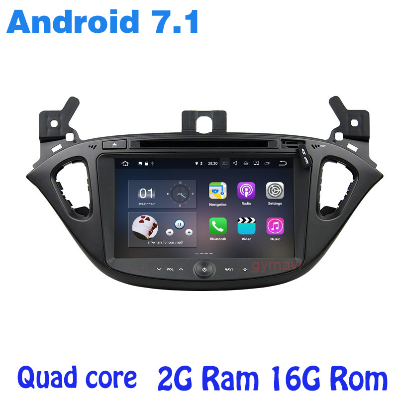 Android 7 1 Quad core Car dvd gps for opel Corsa 2015 2017 with 2G Ram
