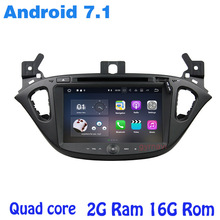 Android 7.1 Quad Core Car DVD GPS para Opel Corsa 2015-2017 con 2g Ram radio WiFi 4G USB Bluetooth espejo enlace SAT NAV