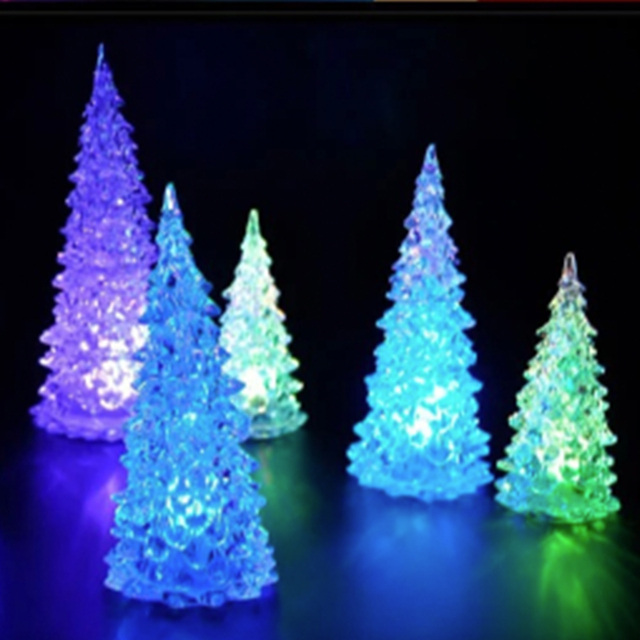 Small Battery Operated Christmas Tree: Mini LED Christmas Tree Battery Operated Color Changing
