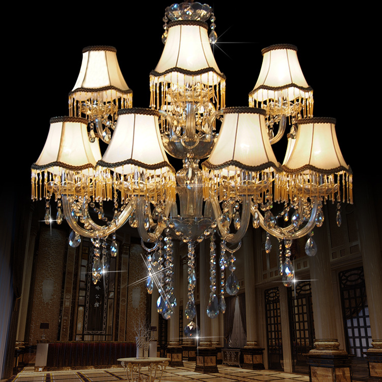 люстра chandelier 6 arm Modern Chandelier Lustre Crystal Chandeliers 15 Arm  Optional Lustres De Cristal Chandelier With Lampshade large chandelier