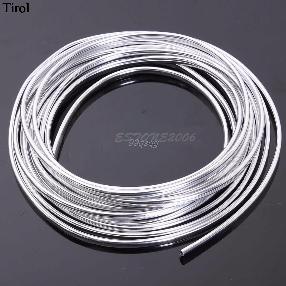 New 15M Chrome Moulding Trim Strip Car Door Edge Scratch Guard Protector Cover Drop shipping speedwow 8m car door edge guard scratch strip protector rubber trim molding scratch strip for toyota audi bmw vw ford