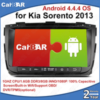 C100 Android 4.4.4 Car DVD GPS Radio Audio Navigation Player for Kia Sorento 2013 with USB SD IPOD WIFI Support 3G DVR OBD