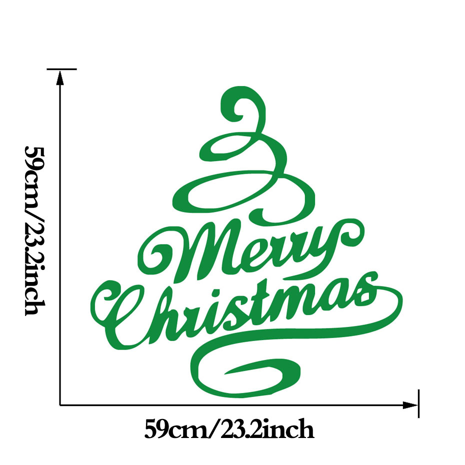 New Design Christmas Tree Vinyl Wall Sticker Merry Christmas Art Murals For Home Wall Coffee Shop Xmas Decorative Decals