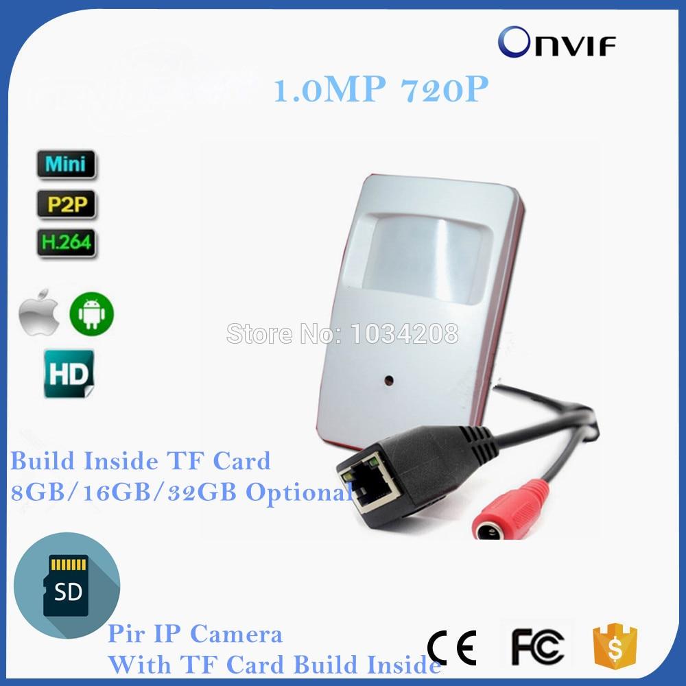 Cheap H.264 HD 720P IP Cam Motion Detector PIR Style CCTV Mini IP Camera With SD Card Slot Build Inside 8GB/16GB/32GBCheap H.264 HD 720P IP Cam Motion Detector PIR Style CCTV Mini IP Camera With SD Card Slot Build Inside 8GB/16GB/32GB