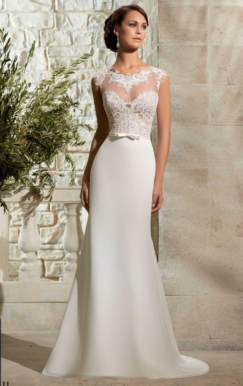 Vestido de boda sin cola