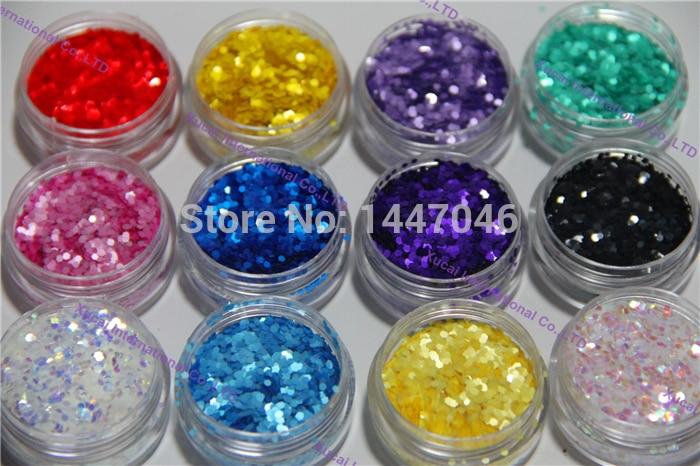 TCT-156 Hexagon Pearlescent Color 1.5MM Solvent Resistant Glitter Sequins For Nail Art Design Nail Gel Polish Makeup Manual DIY