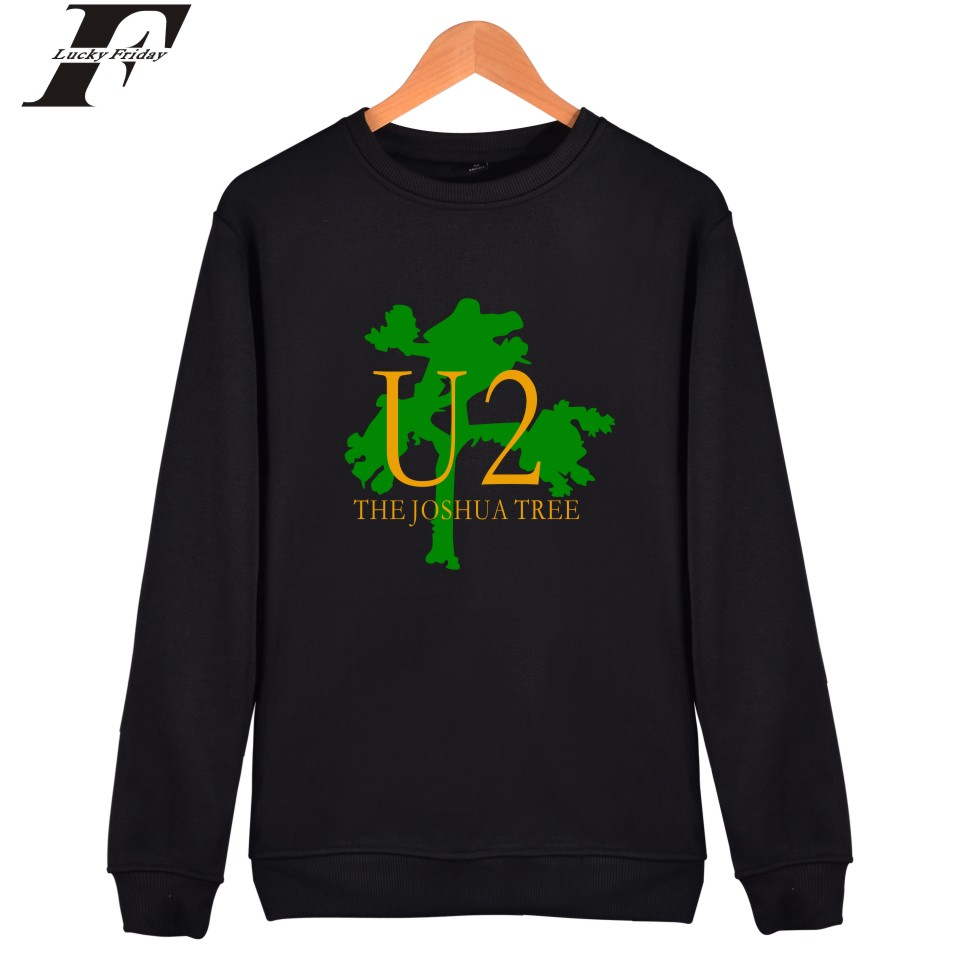 LUCKYFRIDAYF U2 Mens Hoodies And Sweatshirts Famous Electronic Music Capless Hoodies Men Irish Popular Rock Band Fashion Clothes