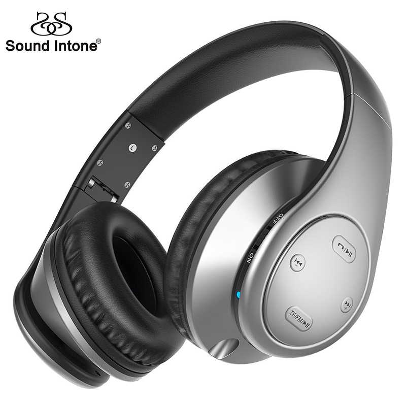 Sound Intone Bluetooth Headphones Wireless Noise Reducing Headsets With Mic and Volume Control Support TF Card