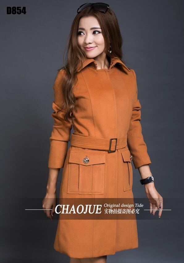 Nouveauté! Manteau en tissu de laine nouveau élégant manteau en laine mince 4XL 5XL grande taille vêtements Outwear! S-4XL livraison gratuite