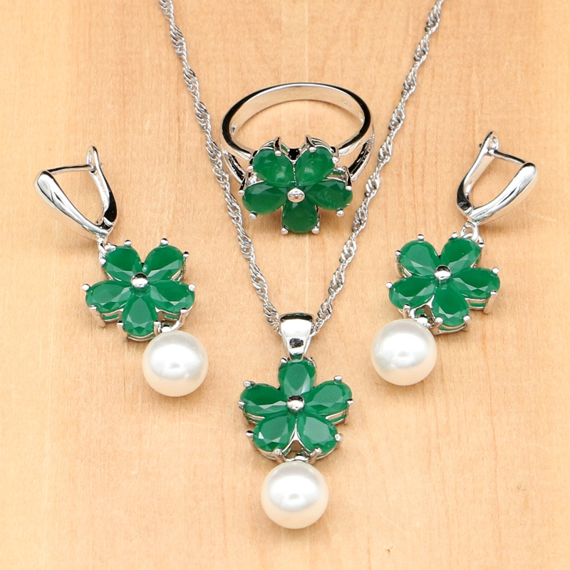 Green Cubic Zirconia White...