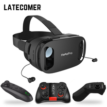 headphone upgrade version virtual reality glasses 3D VR glasses headset helmets Game box Game box VR BOX Selectable with Gamepad