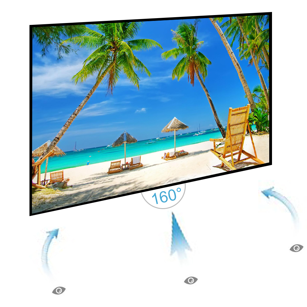 Large Portable Screen Rolled Up : Roll up inch projector screen portable projection