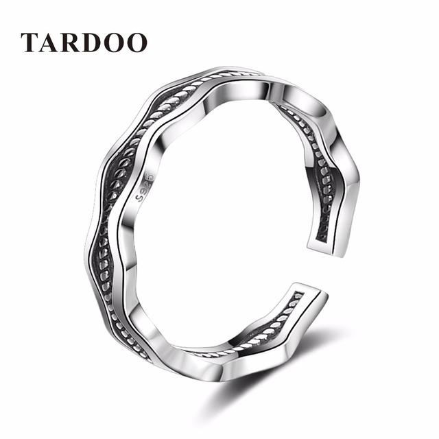 Tardoo Minimalista Moda Prata Esterlina 925 Declaração Geométrica Aberto Cuff Anéis para Homens & Mulheres Fine Jewelry