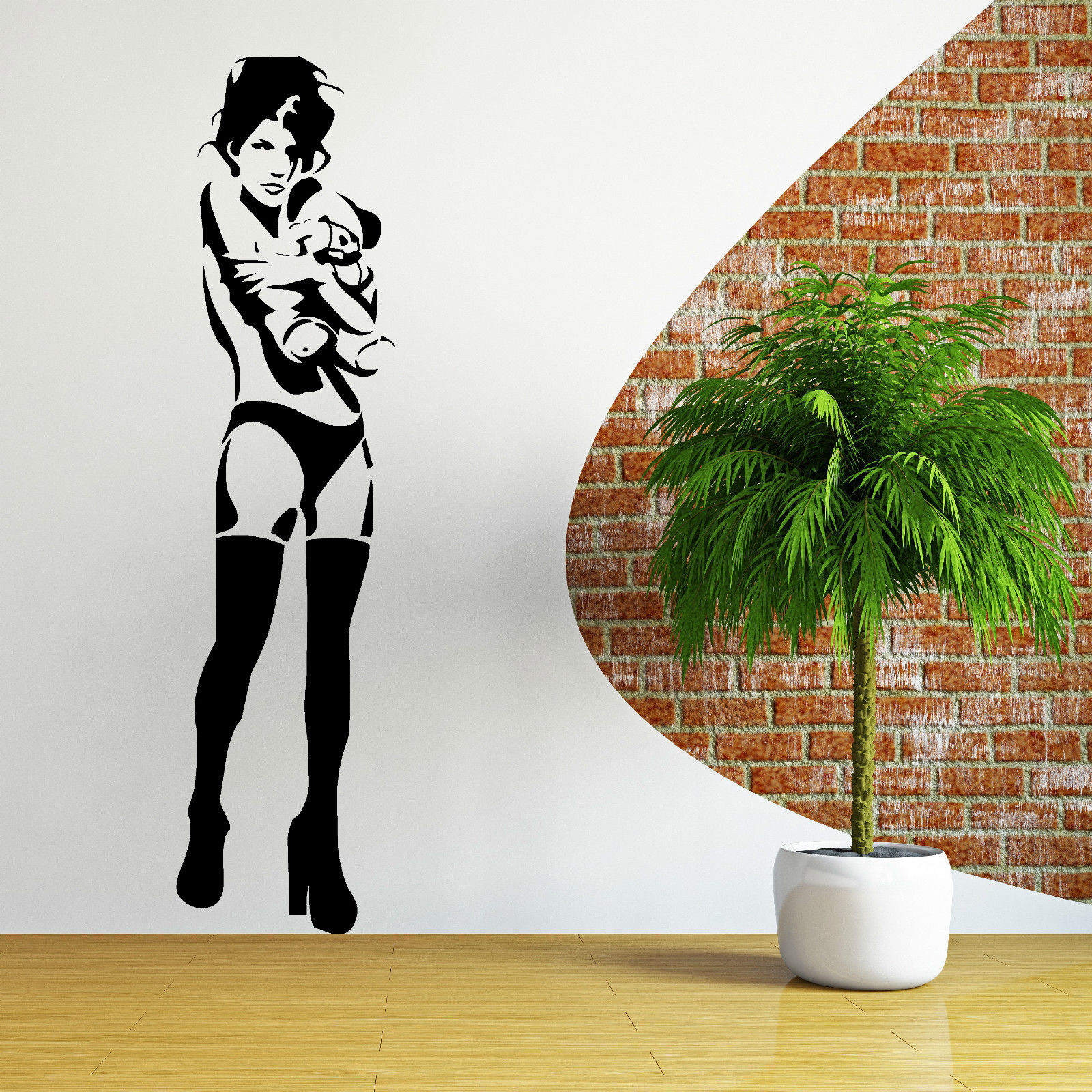 Removable Wall Art aliexpress : buy c182 banksy kate moss bear vinyl wall art