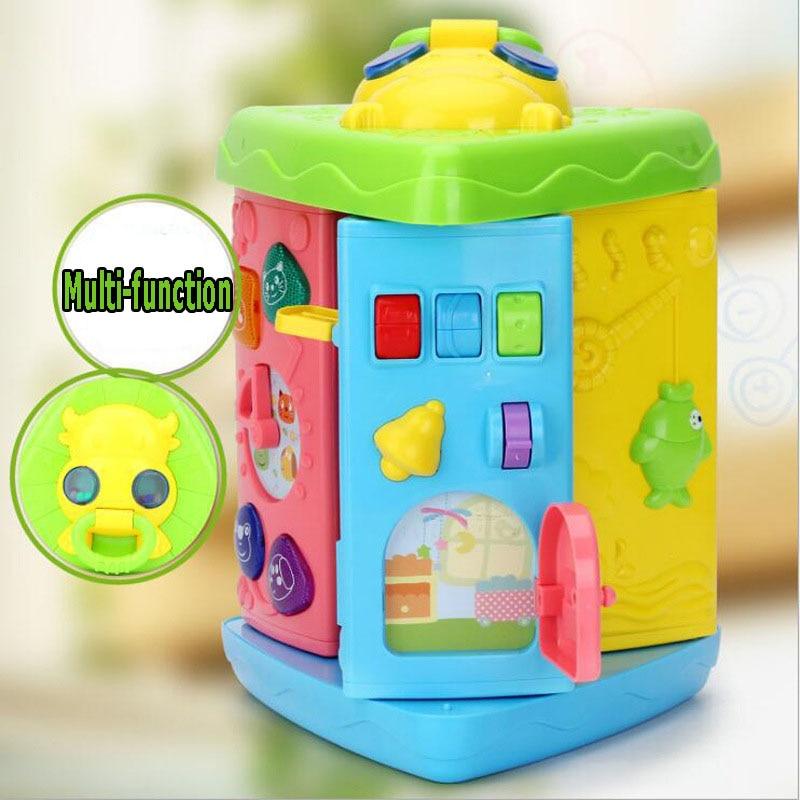 Bébé veau Triangle multifonctionnel Puzzle jouet musique compte infantile jouets 9 côtés Note forme amusant jeu 2001 coloré Puzzle jouet