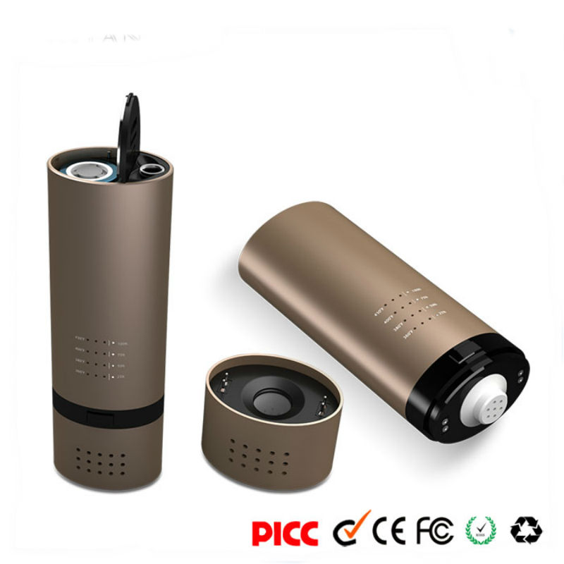 Bud VS7 Dry Herb Vaporizer Ceramic Chamber Starter Kit Glass Mouthpiece Temp Control Mod 18650 Battery Electronic Cigarette Vape