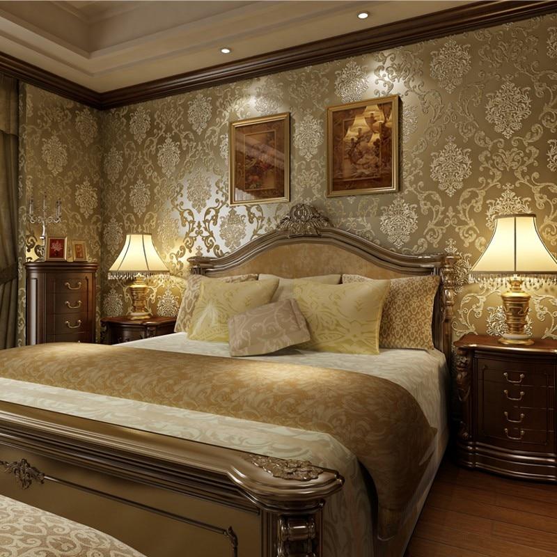 beibehang coffee Metallic texture damask wallpaper roll nonwoven wall paper home decor bedroom papel de parede 3d contact paper beibehang 3d damask wall paper bedroom