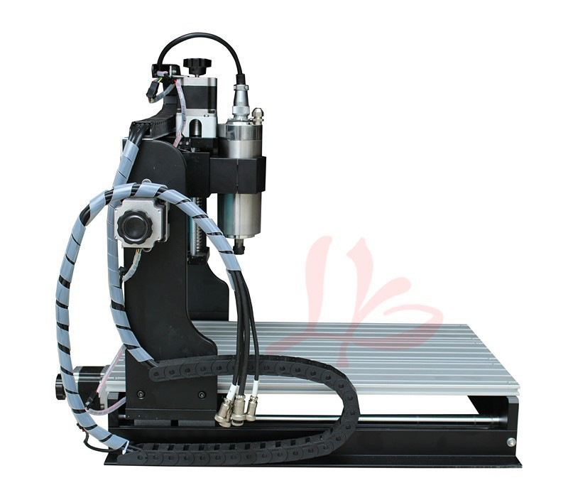 Free shipping! 4 Axis CNC Router 6040 Z-S 3d cnc stone sculpture machine with limit switch, 800W water Cooled spindle low cost russia no tax best water jet cutting machine price stone 4aixs cnc router 6040 z s 800w water cooled with limit switch