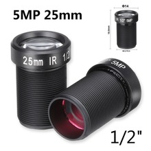 5MP 25mm Lens 1/2'' For HD CCTV Camera F2.4 M12 Fixed Iris Long Distance View