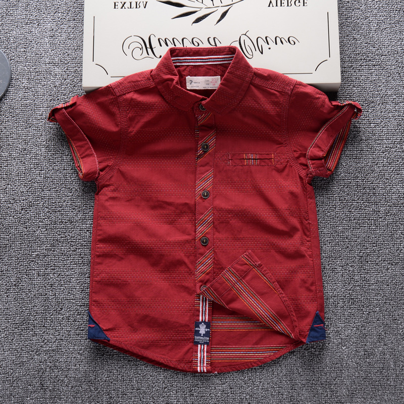 d09a4f12c36f Shirts for Boys 2017 Summer Fashion Short Sleeve Brand Design Children Boy  Shirt Cotton Baby Casual