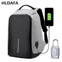 Multifunction USB Charging Men 15inch Laptop Backpacks For Teenager Fashion Male Mochila Leisure Travel Shoulder Bag